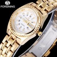 FORSINING Fashion Brand Quartz Women Watches Week Calendar Analog Watch Roman Numerals Wristwatches For Women Relogio