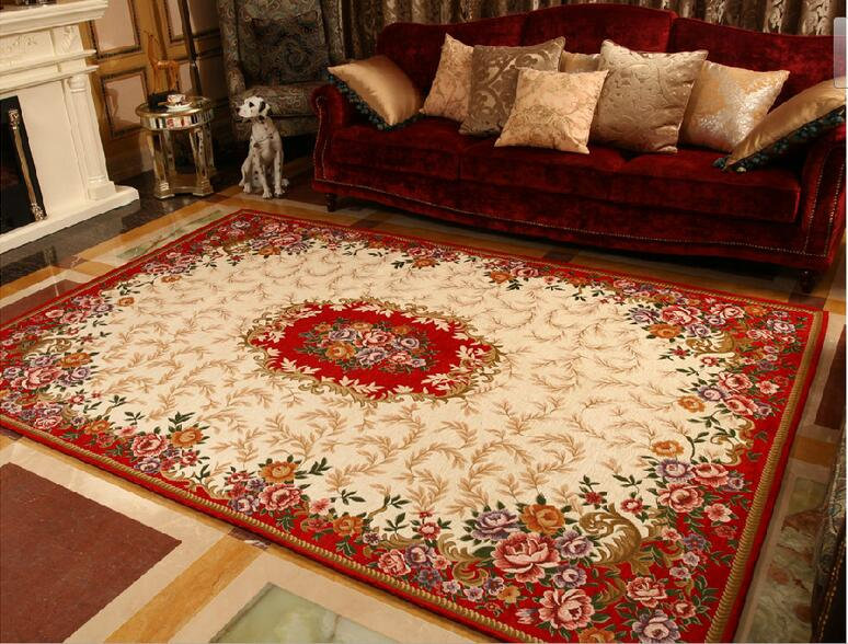Rode Vloerbedekking Slaapkamer : Sunnyrain klassieke machine jacquard rode tapijt gebied tapijt