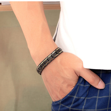 Misheng Temperament Mens Health Magnet Black Bracelet High Quality Stainless Steel 2019 Fashion Jewelry Gift Trend Accessories