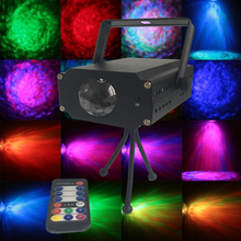 Factory Price IR Remote Stage 9W RGB LED Water Wave Ripple Effect Stage Light Laser Projector Light Christmas Disco Event Party