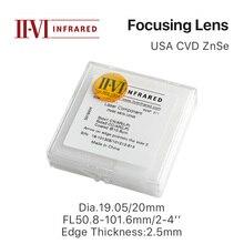 "Cloudray II-VI ZnSe Focus Lens DIa. 19,05 мм 20 мм FL 50,8-101,6 мм 2-"" для CO2 лазерной гравировки, резки"
