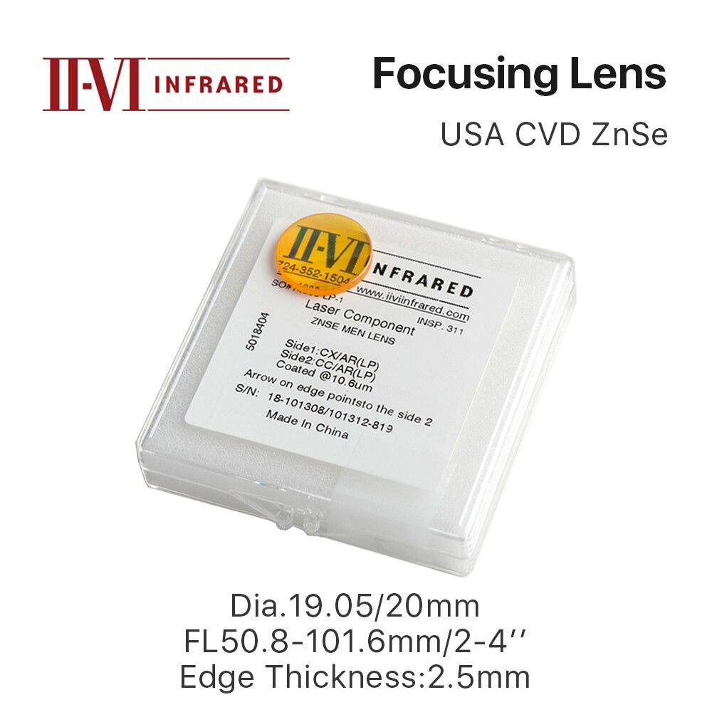 Cloudray II-VI ZnSe Fokus Objektiv Durchmesser. 19,05mm 20mm FL 50,8-101,6mm 2-4