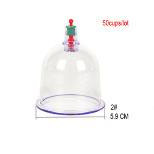 Image 1 - 50 pieces 6.0cm Chinese cupping massages single hijama cups sell in bulk tradition medical massage apparatus with pumps
