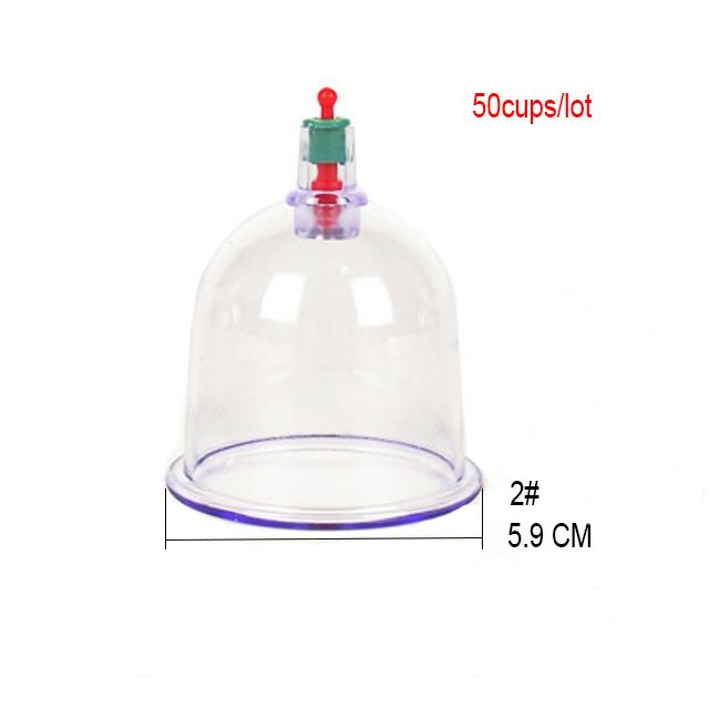 50 pieces 6.0cm Chinese cupping massages single hijama cups sell in bulk tradition medical massage apparatus with pumps