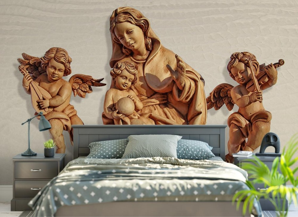 3D Stereoscopic Simple Modern style Wallpaper roll HD angel 3d Mural Wallpaper TV Backgroud Bedroom Home Decor комплект цифрового тв нтв плюс hd simple сибирь
