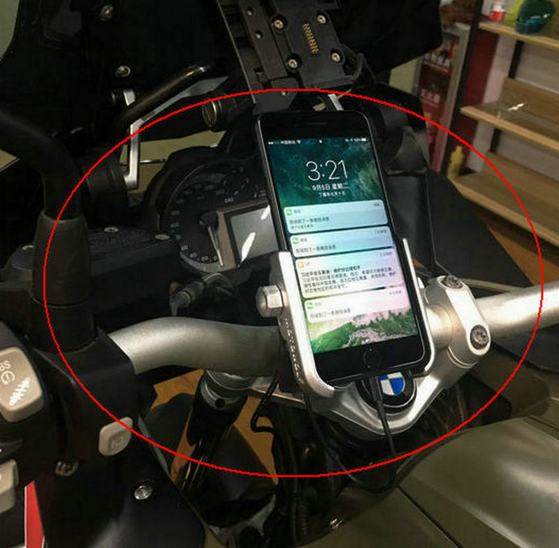 Motorcycle Mobile Phone Holder Mobile Navigation Seat Mount Aluminum Alloy For 19-30MM Handlebar General Motors цена