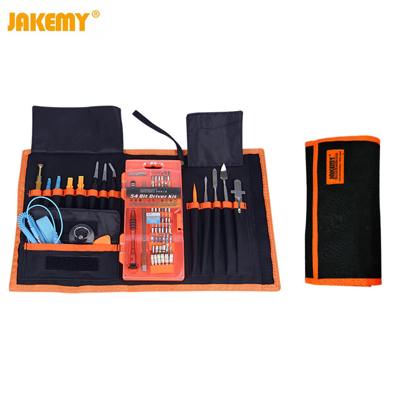 JAKEMY JM-P01 74 in 1 Professional Electronic Precision Screwdriver Set Hand Tool Box for iPhone PC Repair Tools Maintenance Bag jakemy multitool jm 6101 magnetic ratchet screwdriver set home repair kit mobile phone tool for iphone laptop electronic tools