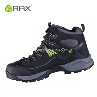 Rax Mens Hiking Shoes Waterproof Trekking Climbing Outdoor Shoes Breathable Leather Mens Mountain Boots Anti Skid Sneaker D0545