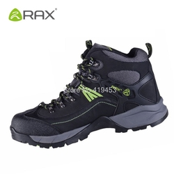 Rax Mens Hiking Shoes Waterproof Trekking Climbing Outdoor Shoes Breathable Leather Mens Mountain Boots Anti-Skid Sneaker D0545