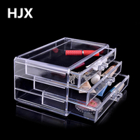 3 layer Lade type Acryl make storage Display box Cosmetica Opslag organisatoren Sieraden Accessoire case kist