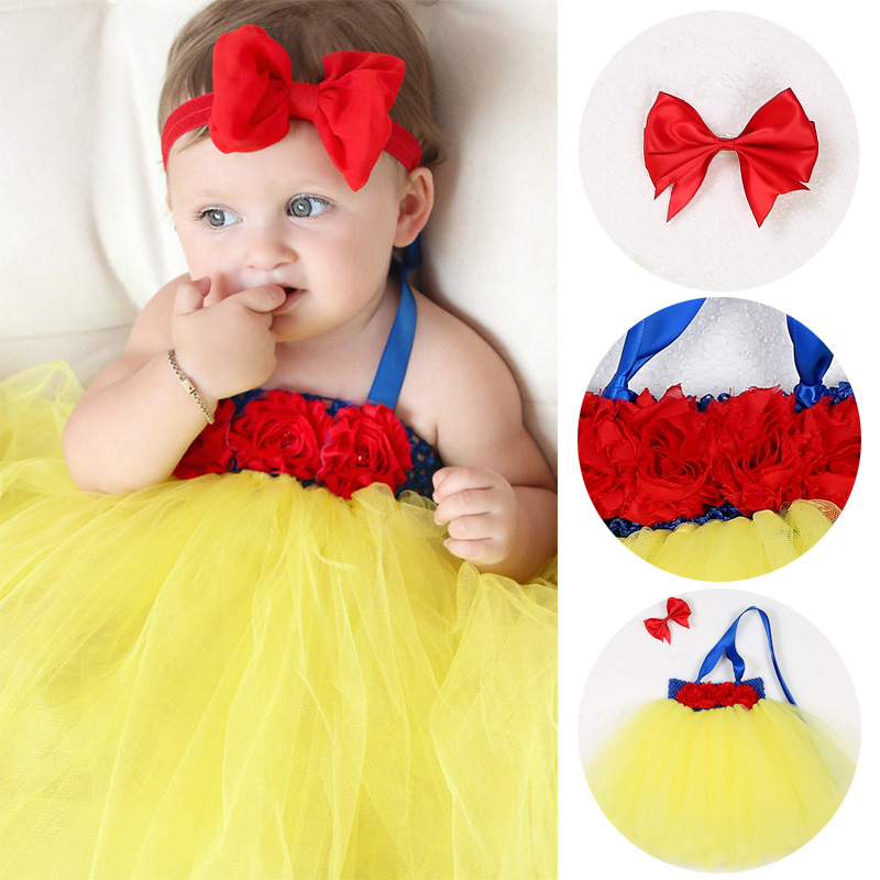 Flower Infant Girls Cartoon Tutu Dress Princess Ball Gown Snow White Cosplay Newborn Baby Girls Dress For Wedding Birthday Party baby clothes little girl princess dress for christmas halloween party kids girls gown snow white alice gown cosplay vestioes