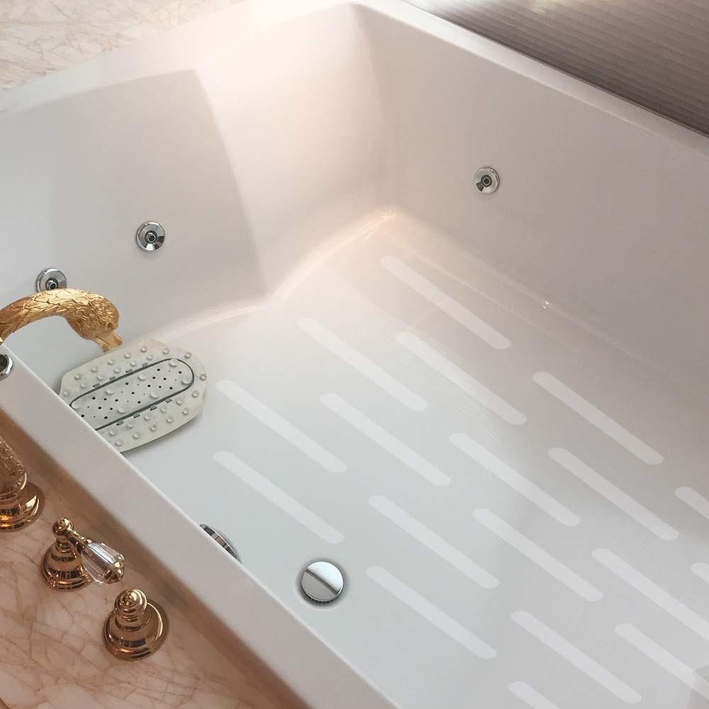 12pcs/Set Waterproof  Non-Slip Bath Grip Stickers Bathroom PET Rubber Strip Sticker Tape Flooring PEVA Anti-slip Stickers