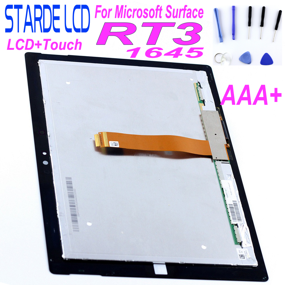 "STARDE Replacement LCD 10.8"" For Microsoft Surface 3 RT3 1645 LCD Display Touch Screen Digitizer Assembly with Free Tools
