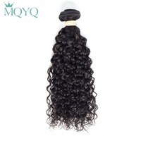 MQYQ Indian Human Hair Weave Bundles Water Wave Hair Extensions 1pc Non Remy Hair Weft Wet And Wavy Curly Indian Hair