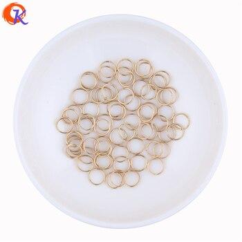 Cordial Design barato al por mayor 100 Uds color oro KC de 7mm de diámetro Split anillos resultados para accesorios de joyería de moda