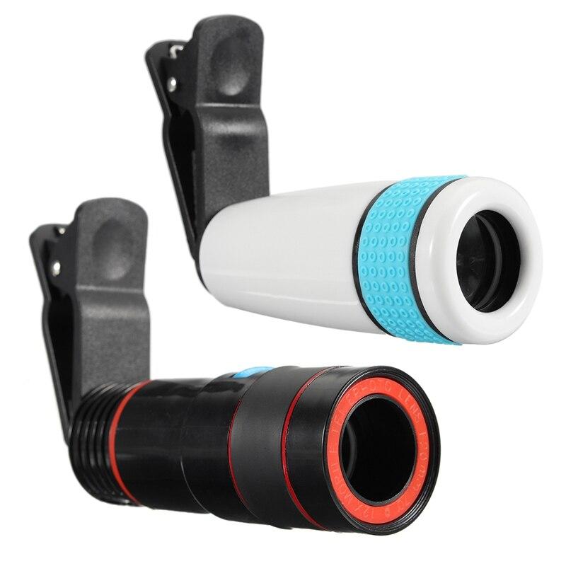 12x Zoom Óptico Lente Telefoto Telescópio Lente Da Câmera Do Telefone Clipe Universal Para Telefones iPhone Android Móvel Celular Dois Tipos