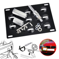 CITALL Front Bumper Tow Hook License Plate Mounting Bracket Holder Fit For BMW 1 3 5