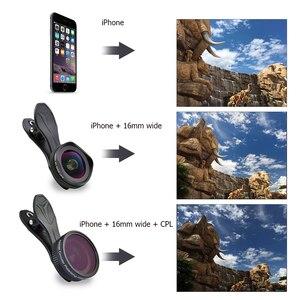 Image 5 - APEXEL プロ 16 ミリメートル 4 18k 超広角レンズ CPL フィルター 2 で 1 HD ユニバーサルクリップカメラ iphone Xiaomi サムスンレンズ