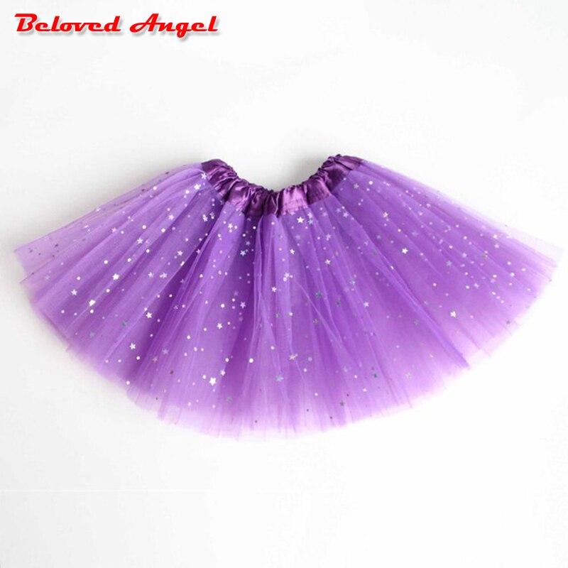 Baby Girl Tutu Skirt Cute Kids Princess Tulle Skirts Summer Children Party Star Print Mesh Skirt Girls Dance Pettiskirt 2-8years