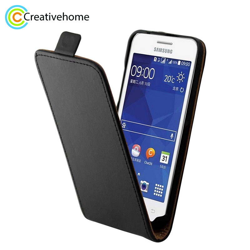 Luxury Cell Mobile Leather Flip <font><b>Case</b></font> cover For <font><b>Samsung</b></font> Galaxy Core II Cover for <font><b>Samsung</b></font> Galaxy Core 2 Dual SIM <font><b>G355H</b></font> Phone <font><b>Cases</b></font> image