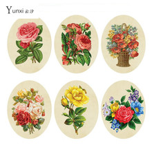 YunXi 28* 22cm Sticker Wc Pedestal Pan Cover Rose Flower Toilet Sticker Stool Commode Sticker Home Decor