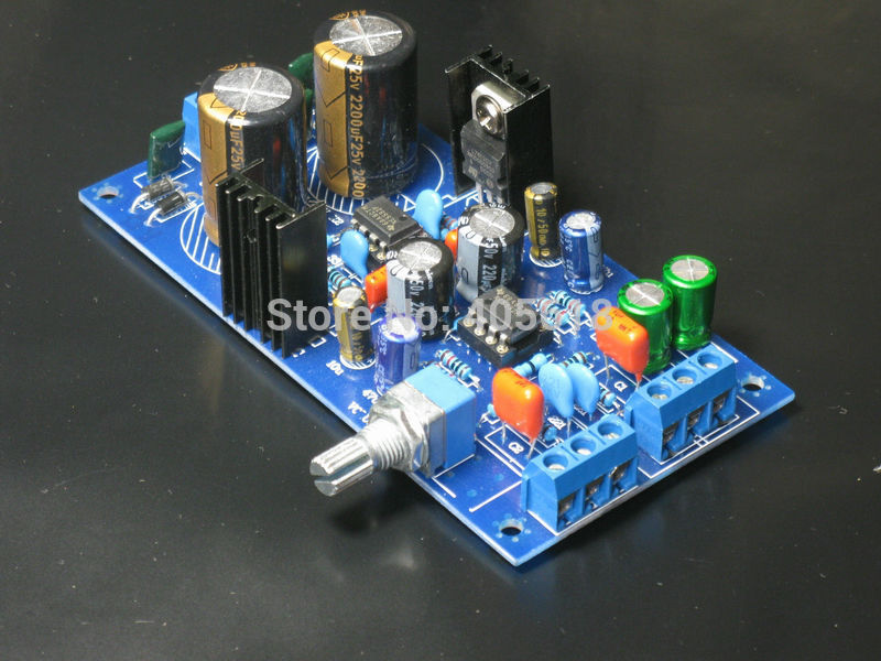 NE5532 Preamplifier board pre amp class board 5532 Dual OP Amp with servo circuit diy kit ne5532 pre amp board w volume potentiometer blue