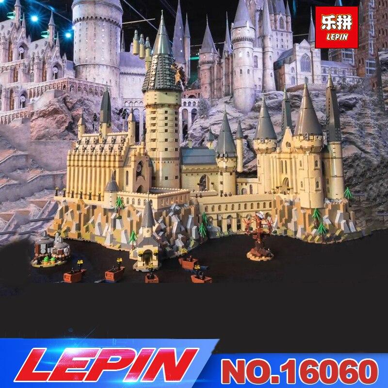 Lepin 16060 16001 Harry Film Potter Série Le 71043 Poudlard Château Ensemble Blocs de Construction Briques Enfants Jouets Maison De Noël Cadeau