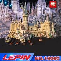 Lepin 16060 16001 Harry Movie Potter Series The 71043 Hogwarts Castle Set Building Blocks Bricks Kids Toys House Christmas Gift