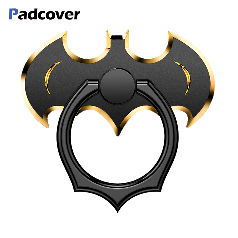 PADCOVER 360 Degree Rotate Holder Finger Ring  Bat Mobile Phone Stand Holder For Xiaomi/Huawei/iPhone All Smart Phone Holder