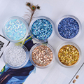 1 Box 15g Shiny Blue White Gold Silver Paillette Nail Sequins Glitter Powder Nail Art Decoration