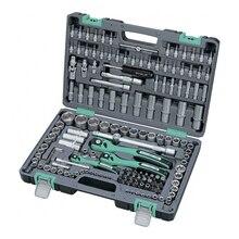 Набор инструментов STELS 14114 (151 предмет, хром-ванадиевая сталь и сталь S2, трещоточные ключи, торцевые головки, биты и др.)