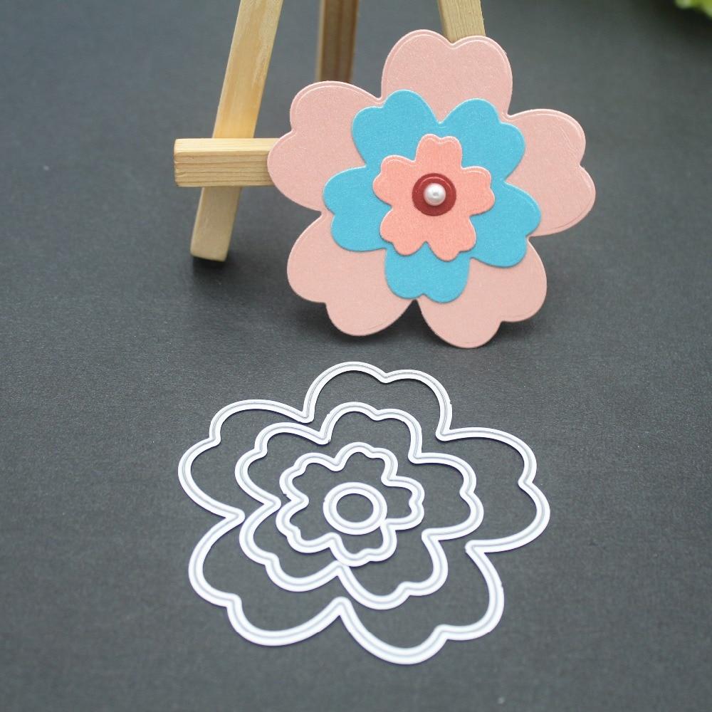 18Pcs Mixed Flower Cutting Dies Stencil Scrapbook Embossing Paper Card Die Fashi