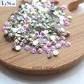 Super Brilho Strass SS3 (1.3-1.4mm)-SS50 (10mm) Cristal AB Color Glass cristal Não Hotfix Flatback Nail Art Decoração DIY