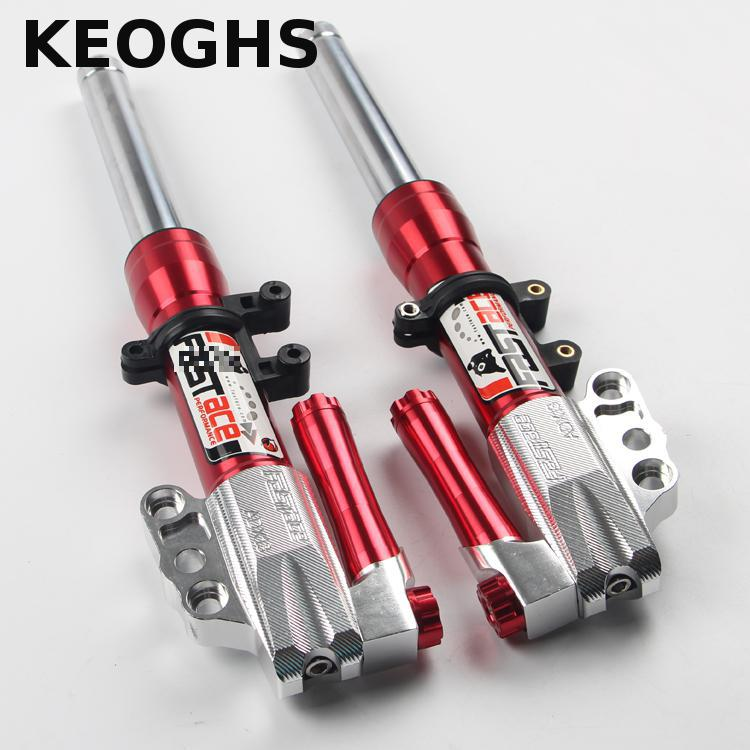 Keoghs Motorcycle Front Shock Absorbers front Fork 30mm 380mm 400mm For Yamaha Scooter Modify One Pair