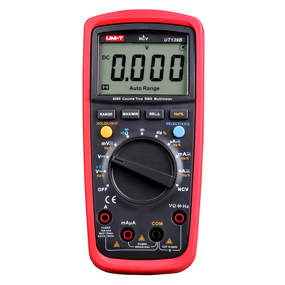 UNI-T UT139B True RMS  4000 Counts DMM Digital Multimeter Capacitance & Frequency Test Multimetro LCR Meter free shipping 1 pcs mastech ms8269 digital auto ranging multimeter dmm test capacitance frequency worldwide store