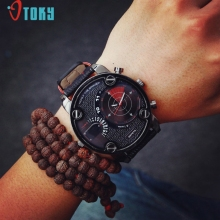 Excellent Quality OTOKY New Men watch Luxury Brand Watches Quartz Clock Fashion Leather Watch Sports Wristwatch Relogio Male