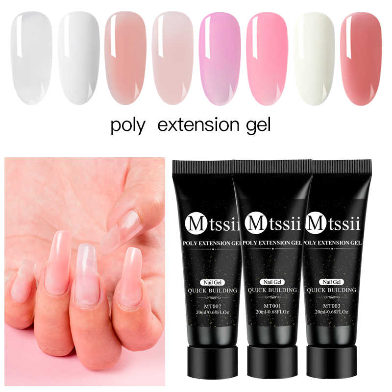 Mtssii Poly Extension Gel 20ML UV Quick Builder Extension Enhancement LED UV Poly Vernis Nail Gel Polish Manicure