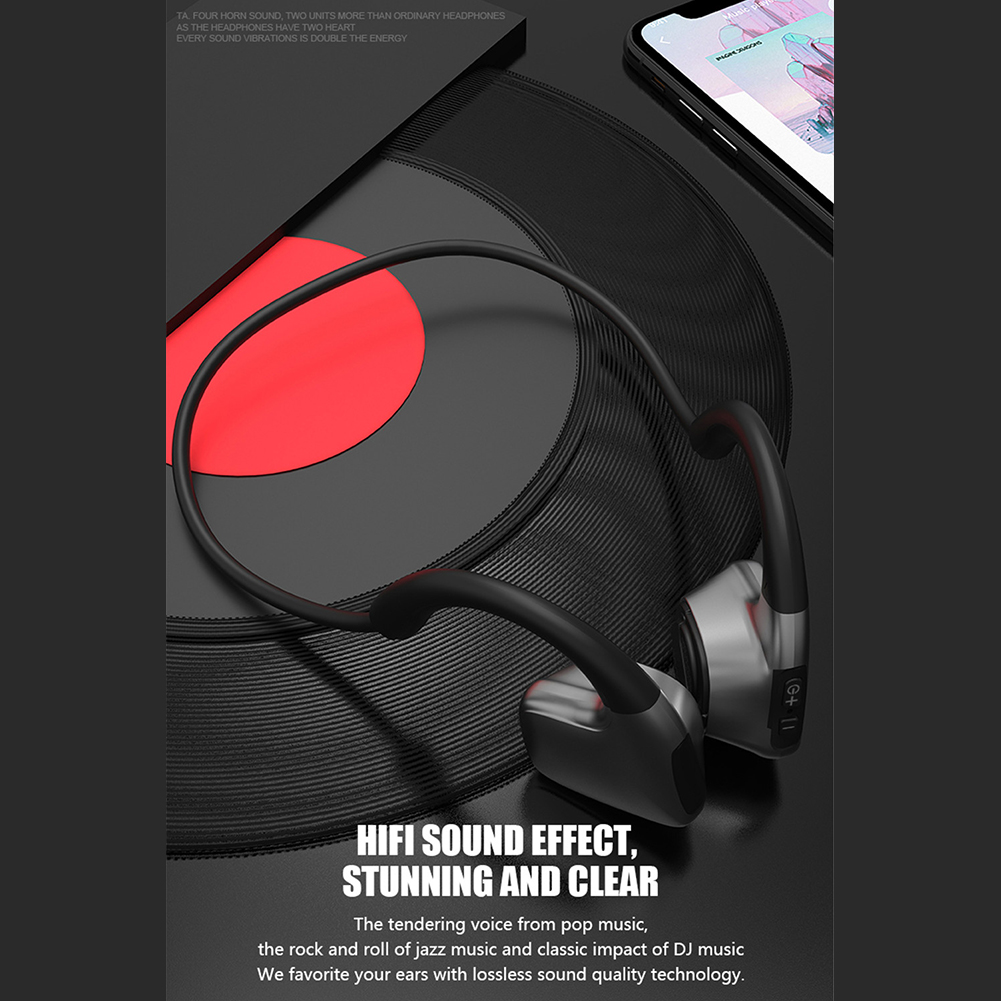 R9 Anti-drop headphones Bluetooth 5 0 Bone Conduction Headsets Wireless  Sports earphones Anti-sweat