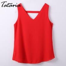 Womens Tops And Blouses Summer 2018 Sleeveless Chiffon Blouse For Women Befree Boho Backless Shirt streetwear Top Tank Womens