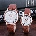 Marca Gogoey par relógios amantes das mulheres dos homens de couro moda casual relógios de pulso de quartzo relógio de 119