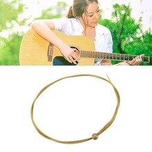 6pcs/set Acoustic Silver Gold color Steel Guitar Strings Hot Sale