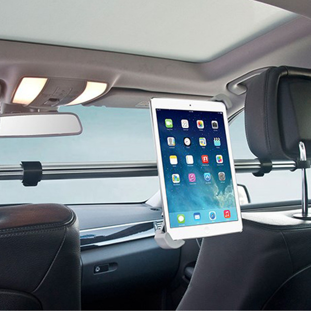 "7 ""-11"" Titular Tablet Assento de Carro de Volta Tablet Car Mount Suporte de alumínio Stents para ipad mini 2 3 4 air 2 para samsung xiaomi kindle"