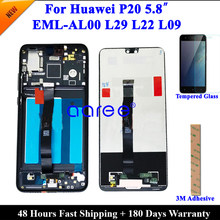 LCD Display Für Huawei P20 LCD 5,8 'P20 LCD Display Für Huawei P20 AL00 EML L29 Display LCD Bildschirm Touch digitizer Montage
