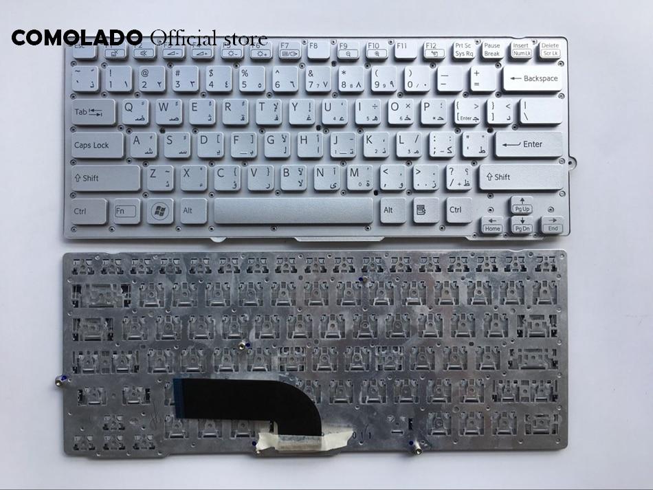 AR Арабский Клавиатура для ноутбука sony для Vaio VPC-SD VPC-SA SB SD Silver без рамки раскладка клавиатуры АР
