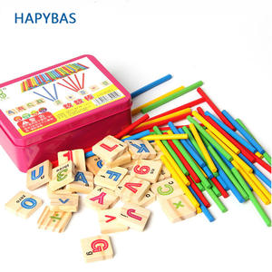 Mathematics Numbers-Sticks Educational-Toy Wooden Early-Learning-Counting Baby Child