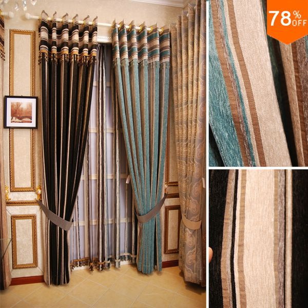 New Nice Good Luxury Modern Quality Finished Product Storage Room Curtain  Lines Curtains Line Geometry Curtains