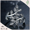 High Quality Trendy Olive Branch Design 100 S925 Pure Silver Material Finger Ring