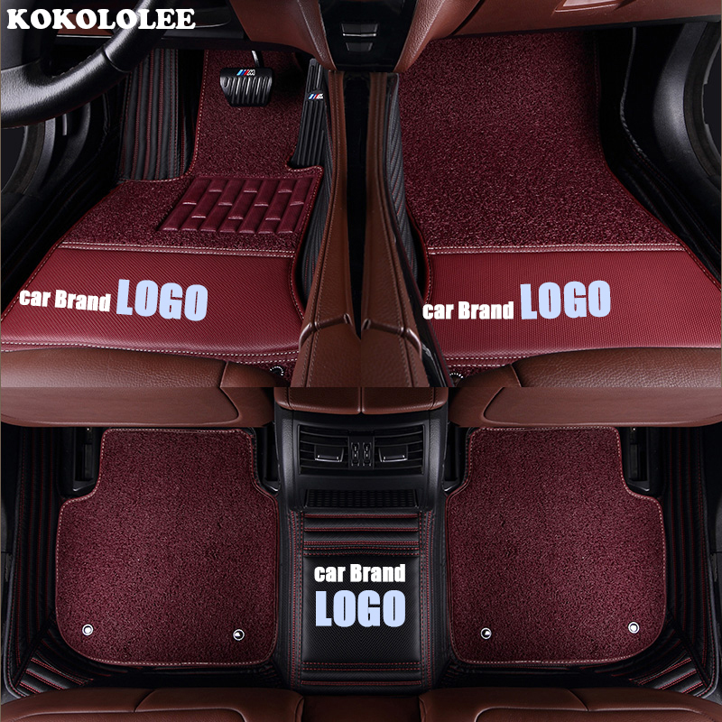 Image 5 - kokololee car floor mats for Volkswagen LOGO vw up CC passat b5 b6 b7 b8 polo golf 4 5 6 tiguan jetta touran touareg car styling-in Floor Mats from Automobiles & Motorcycles