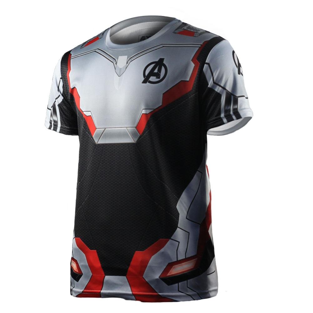 3D Avengers Endgame Realm Cosplay T-shirt Iron Man Captain Marvel Captain America Black Widow Costume Sport Tight Tees Dropship88