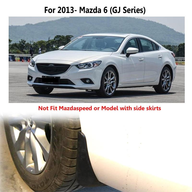 4x Car Mud Flap Splash Guard Fender Mudguard Mudflap For Mazda 6 Sedan 2013-2019